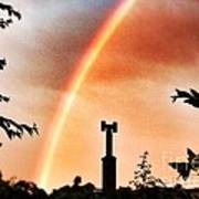 Rainbow Over The City Art Print