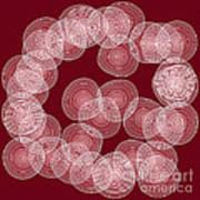 Red Abstract Circles Art Print