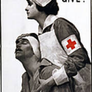 Red Cross Poster, 1917 Art Print