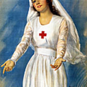 Red Cross Poster, 1918 Art Print