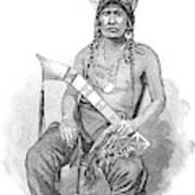 Red Eagle, William Weatherford, Creek Art Print
