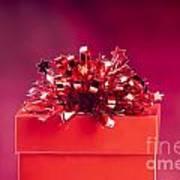 Red Gift Box Art Print