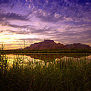 Red Mountain Reflections  Art Print