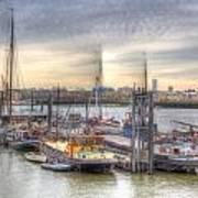 River Thames Boat Community Art Print