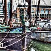 River Thames Sailing Barges. Art Print