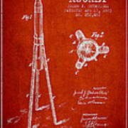 Rocket Patent Drawing From 1883 Art Print