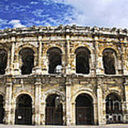 Roman Arena In Nimes France Art Print