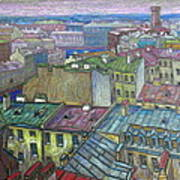 Roofs Of St. Petersburg  Art Print