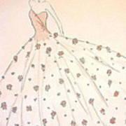 Rose Ball Gown   Art Print by Christine Corretti