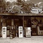 Route 66 - Hackberry General Store Art Print