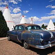 Route 66 Wigwam Motel And Classic Car Art Print