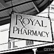 Royal Pharmacy - Bw Art Print