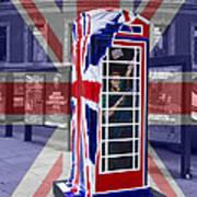 Royal Telephone Box Art Print by David French