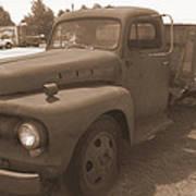 Rusty Ford Truck Art Print