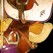 2 Saddles Bucket 14592 Art Print