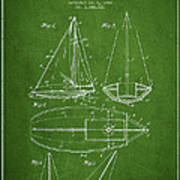 Sailboat Patent Drawing From 1948 Art Print