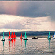 Sailing On Marine Lake A Reflection Art Print