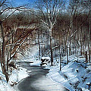 Same Creek Different Place Art Print by Denny Dowdy