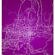 San Salvador Street Map - San Salvador El Salvador Road Map Art  Art Print