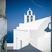 Santorini Church Art Print
