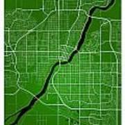 Saskatoon Street Map - Saskatoon Canada Road Map Art On Colored  Art Print