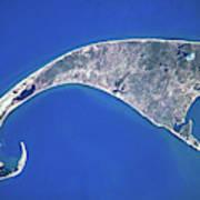 Satellite View Of Cape Cod National Art Print