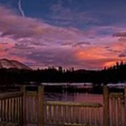 Sawmill Lake Sunset Print by Michael J Bauer