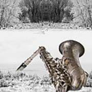 Sax On Snowy River Art Print