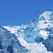 Scenic View Of Eiger And Monch Mountain Art Print