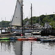Schooner Camden Harbor - Maine Art Print