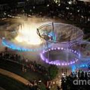 D101l-216 Scioto Mile Riverfront Park Fountain Photo Art Print