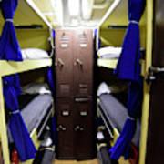 Seaman Lockers And Bunks Aboard Uss Art Print