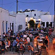 Serifos Town During Dusk Time Art Print
