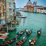 Six Gondolas Art Print