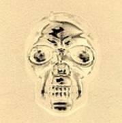 Skull In Sepia Art Print