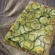 Sliced Pizza With Zucchini Art Print by Sabino Parente