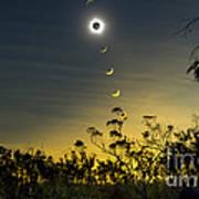 Solar Eclipse Composite, Queensland Art Print by Philip Hart