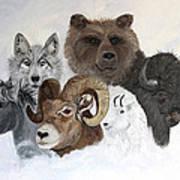 Spirit Totems Art Print by Judy M Watts-Rohanna