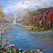 Spring on Glacier Lake Art Print