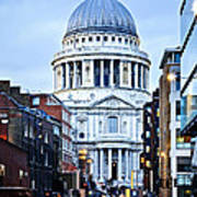 St. Paul's Cathedral London At Dusk Art Print