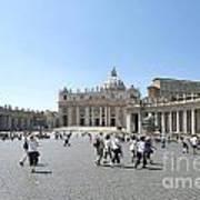 St Peter's Square. Vatican City. Rome. Lazio. Italy. Europe  Art Print