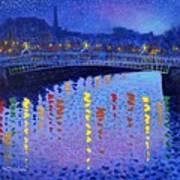 Starry Night In Dublin Art Print