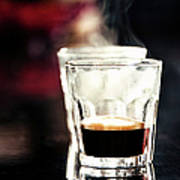 2 Steaming Espresso Shots In Glasses Art Print
