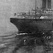 Steamship Accident, 1914 Art Print