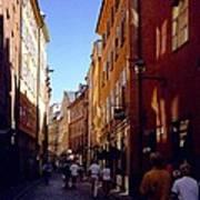 Stockholm City Old Town Art Print