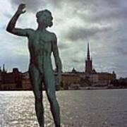 Stockholm Nobel Building Art Print
