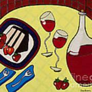 Strawberry Wine Art Print