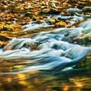 Stream Fall Colors Great Smoky Mountains Painted  Art Print