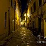 Street Alley By Night Art Print