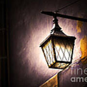 Street Lamp Shining Art Print
